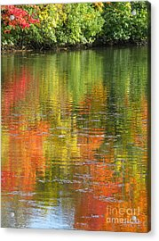 Acrylic Print featuring the photograph Water Colors by Ann Horn