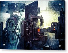 Water Cooling Of Roling Mill Line Acrylic Print