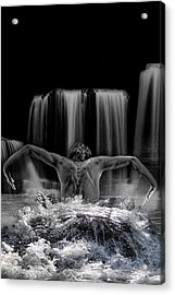 Water Dance Acrylic Print by Angel Jesus De la Fuente