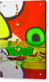 Acrylic Print featuring the photograph Water Dew by Peter Lakomy
