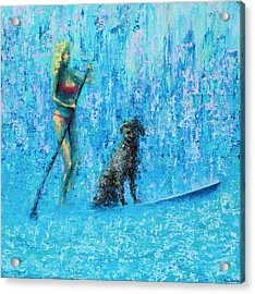 Water Dog Acrylic Print by Ned Shuchter