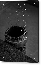 Water Dripping Up The Spout Acrylic Print by Bob Orsillo