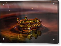 Acrylic Print featuring the photograph Water Drop Art by Peter Ciro