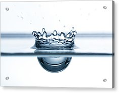Water Drop Close-up Acrylic Print by Daniel Elliot Photography