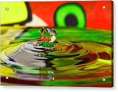 Acrylic Print featuring the photograph Water Drop by Peter Lakomy