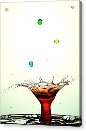Water Droplets Collision Liquid Art 12 Acrylic Print