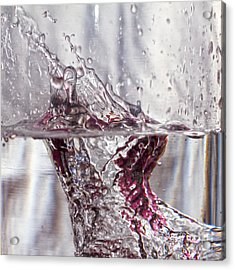 Water Drops Abstract  Acrylic Print by Stelios Kleanthous