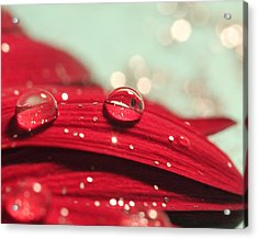 Water Drops And Glitter Acrylic Print