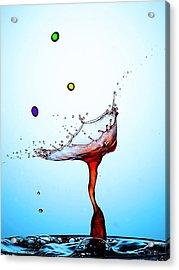 Water Drops Collision Liquid Art 18 Acrylic Print