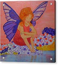 Water Fairy Acrylic Print by Judi Goodwin