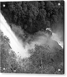 Water Fall And Bushland Acrylic Print by Cheryl Miller