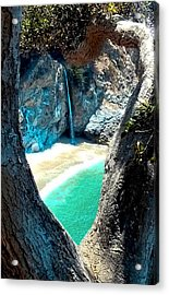 Water Fall Heart Acrylic Print