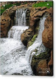 Acrylic Print featuring the photograph Water Fall by Judy Palkimas