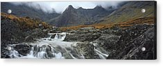 Water Falling From Rocks, Sgurr Acrylic Print