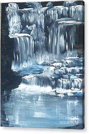Water Falls And Falls And Falls Acrylic Print