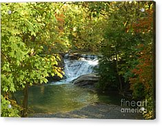 Water Falls Acrylic Print by Kathleen Struckle