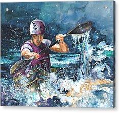 Water Fight Acrylic Print by Miki De Goodaboom