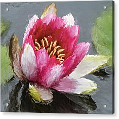Water Flower Impression Acrylic Print by Yury Malkov