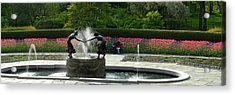 Acrylic Print featuring the photograph Water Fountain In Central Park by Yue Wang