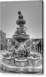 Water Fountain Acrylic Print by Kathleen Struckle