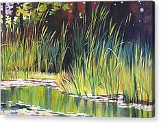 Water Garden Landscape II Acrylic Print by Melody Cleary
