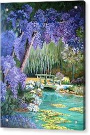 Water Garden Acrylic Print by Teresita Hightower