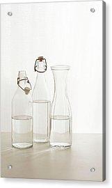 Water Glass Acrylic Print by Renáta Dobránska
