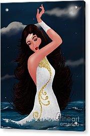 Water Goddess  Acrylic Print