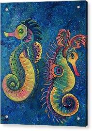 Water Horses Acrylic Print