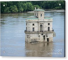 Acrylic Print featuring the photograph Water House by Kelly Awad