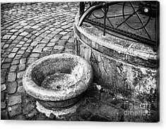 Water In The Square Acrylic Print by John Rizzuto