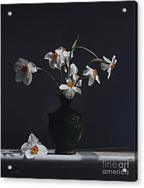 Water Jug With Narcissus   Acrylic Print