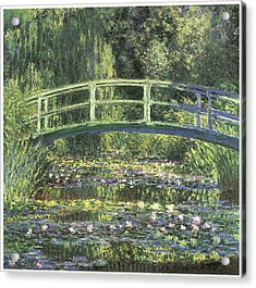 Water Lilies And Japanese Bridge Acrylic Print by Claude Monet