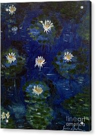 Acrylic Print featuring the painting Water Lilies by Brindha Naveen