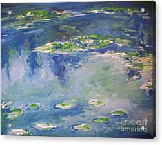 Water Lilies Giverny Acrylic Print by Eric  Schiabor
