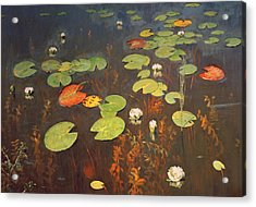 Water Lilies Acrylic Print by Isaak Ilyich Levitan