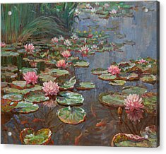 Water Lilies Acrylic Print by Korobkin Anatoly