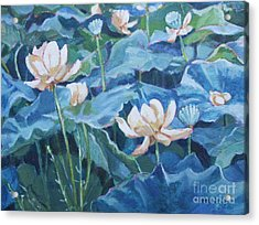 Water Lilies Two Acrylic Print