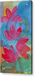 Water Lilies Water Swirls Version II Acrylic Print by Claudia Smaletz