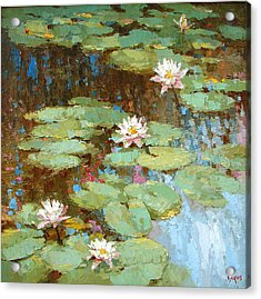 Water Lily Acrylic Print by Dmitry Spiros