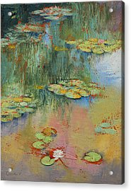 Water Lily Acrylic Print by Michael Creese
