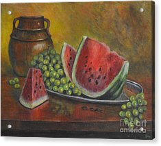 Water Melon Acrylic Print by Jana Baker