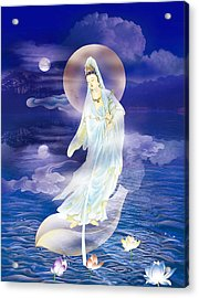 Water Moon Avalokitesvara  Acrylic Print