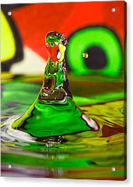 Acrylic Print featuring the photograph Water Mountain by Peter Lakomy