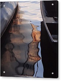 Water Reflections Abstract Acrylic Print by Carol Berning
