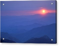 Water Rock Knob Sunset Acrylic Print