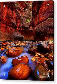 Water Runs Through It Acrylic Print