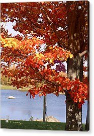 Water Skiing In Jay Vermont Acrylic Print