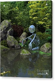 Water Spirit Acrylic Print by Fairy Fantasies