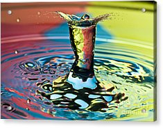Water Splash Art Acrylic Print